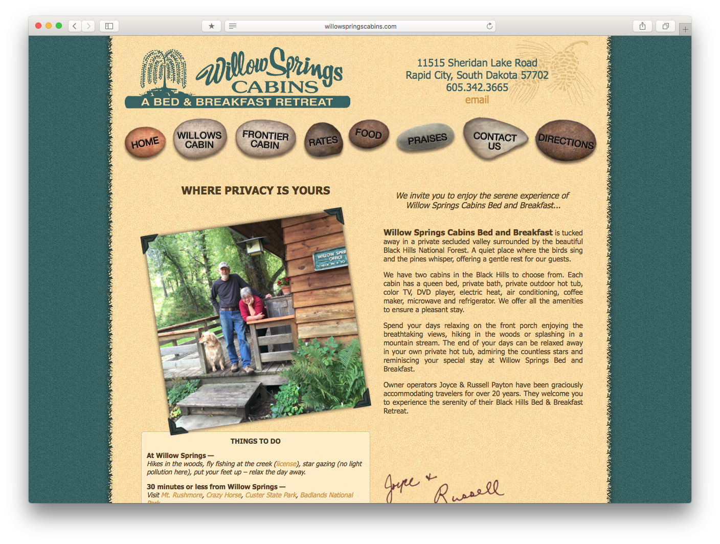Willow Springs Cabins